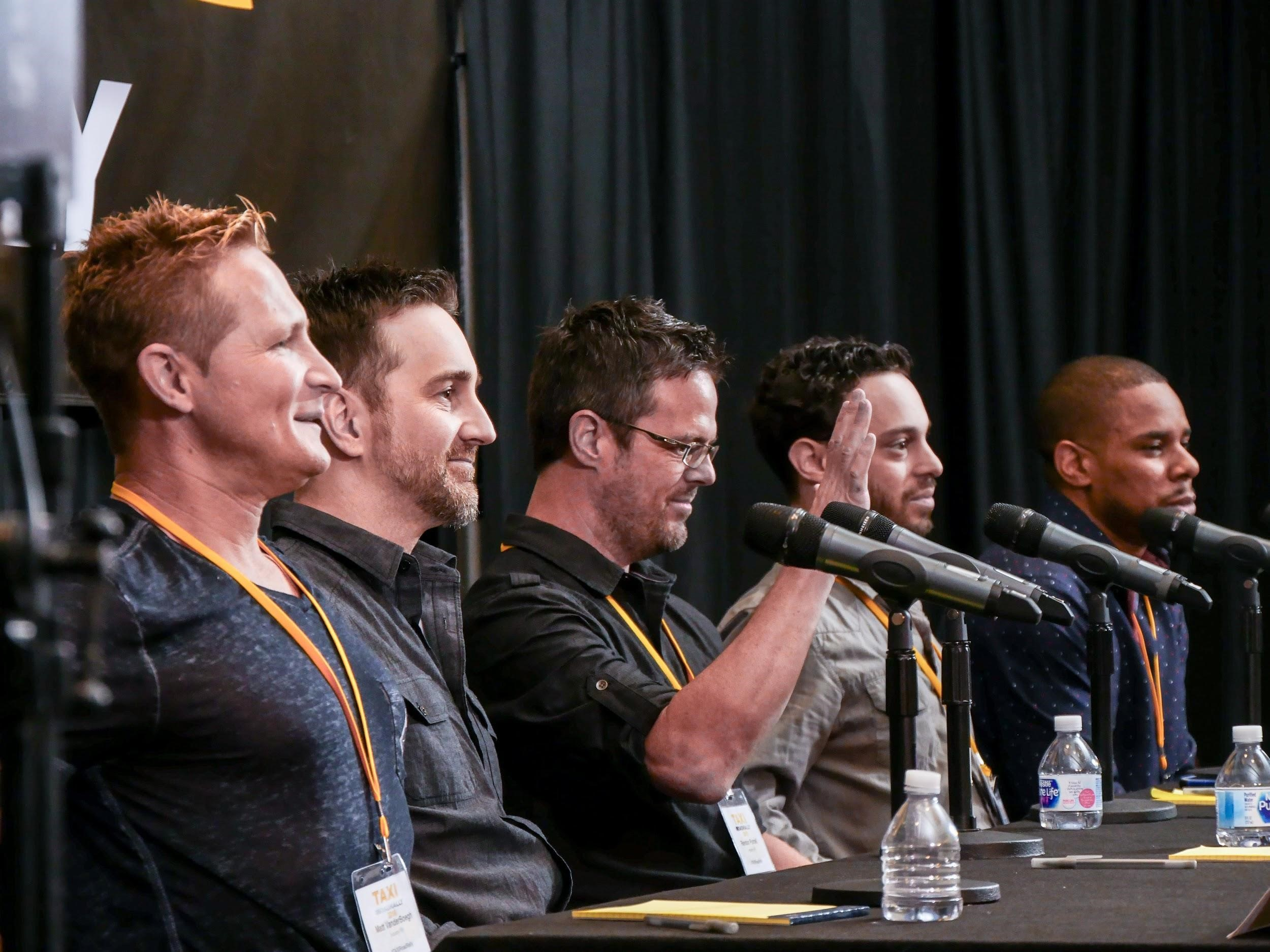 Successful TAXI members Matthew Vander Boegh, Keith LuBrant, Randon Purcell, Marcus Cohen, and Terrell Burt told their fellow members how they find the time to create tons of new music despite having families, jobs, and lots of other 'adult responsibilities.'