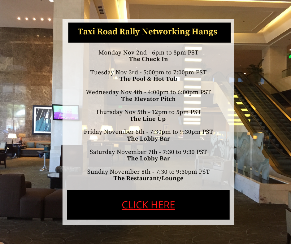 Download our TAXI Road Rally Networking Hangs Schedule