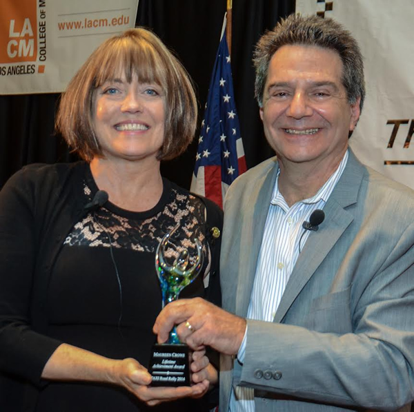 Michael Laskow presents Maureen Crowe with her well deserved Lifetime Achievement Award at TAXI's Road Rally.