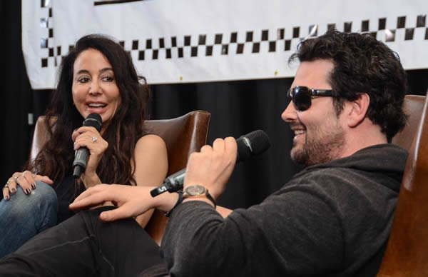 Rock Mafia (Antonina Armato and Tim James) during their panel at TAXI's Road Rally 2014.