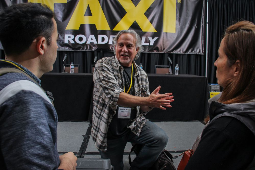Music Supervisor Mason Cooper was incredibly generous with his time before, during, and even after his appearances on three panels at TAXI's 21st Road Rally convention.