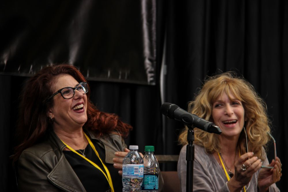 Music Licensing executives Michele Wernick (left), and Beth Wernick share the same last name and job descriptions, but they aren't related. But they are friends, so we couldn't resist putting them on the same Pitch and Feedback panel.