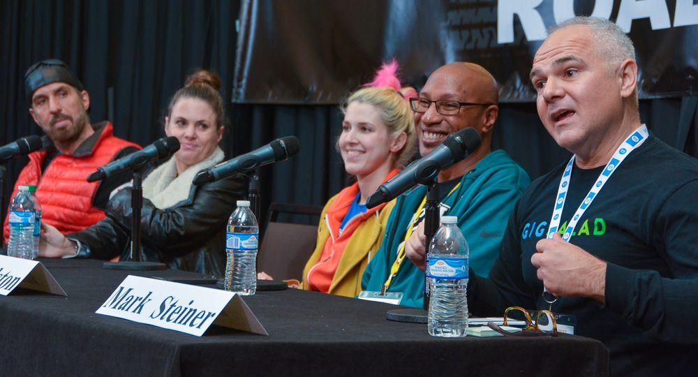 (left to right) Bobby Borg (Author, Music Marketing For The DIY Musician), Gilli Moon (President, Songsalive!), Aventurina King (singer/songwriter/producer), Sydney Alston (Disk Makers), and Mark Steiner (CEO, GigSalad) complimented each other's skill sets incredibly well on the Success Is No Accident panel.