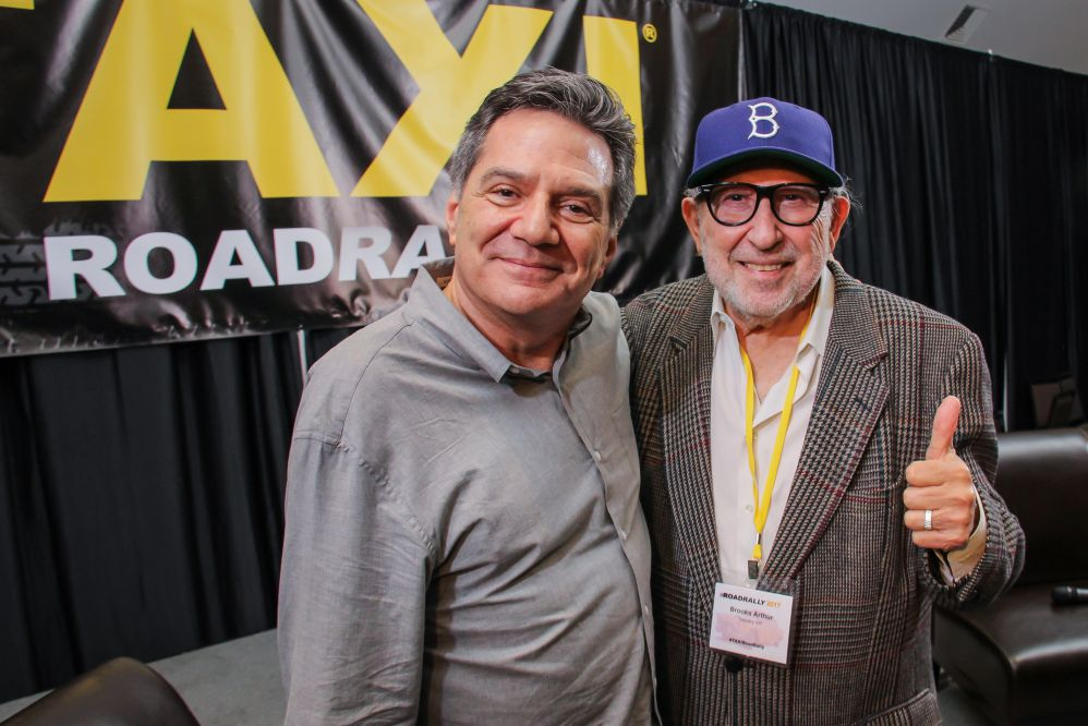 TAXI's Michael Laskow got to meet one of his heroes at this year's Road Rally! Legendary producer/engineer/music supervisor Brooks Arthur is also a Producer of the film, BANG! The Bert Berns Story, which was screened during movie night at the Rally.