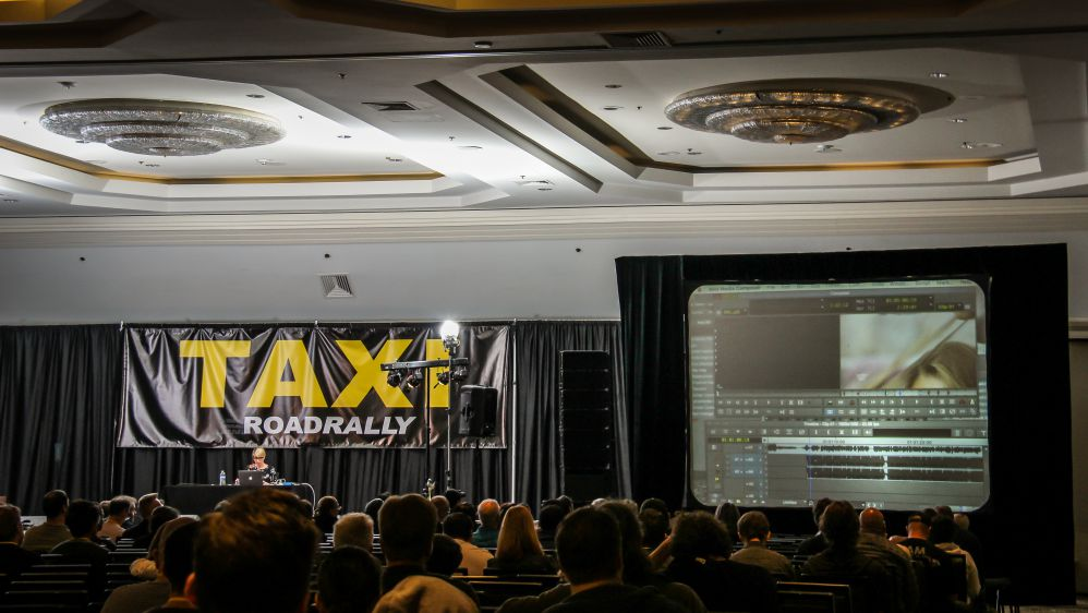 This is a great shot showing the detail our members were treated to by video editor Laurel Ostrander during her session in the Grand Ballroom called, How Video Editors choose and Use Music.