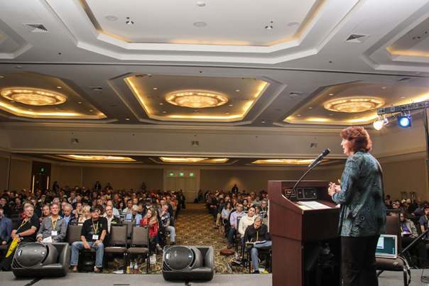 Robin Frederick packed the ballroom once again, and for good reason, her presentations are always super well-prepared, and incredibly informative!