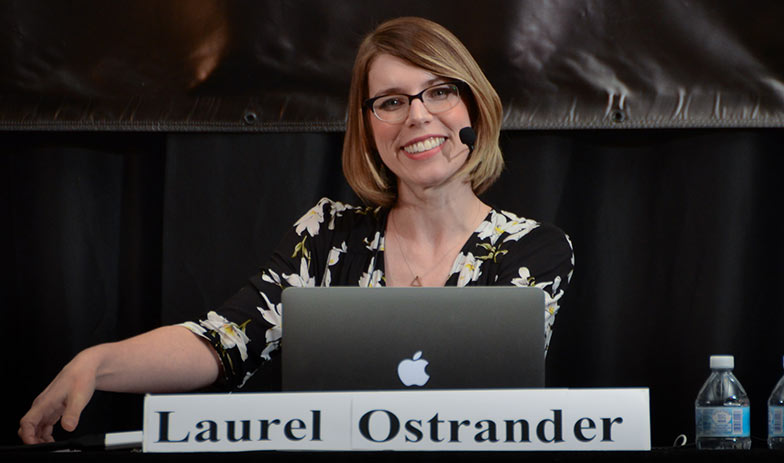 A close up of the aforementioned video editor, Laurel Ostrander.