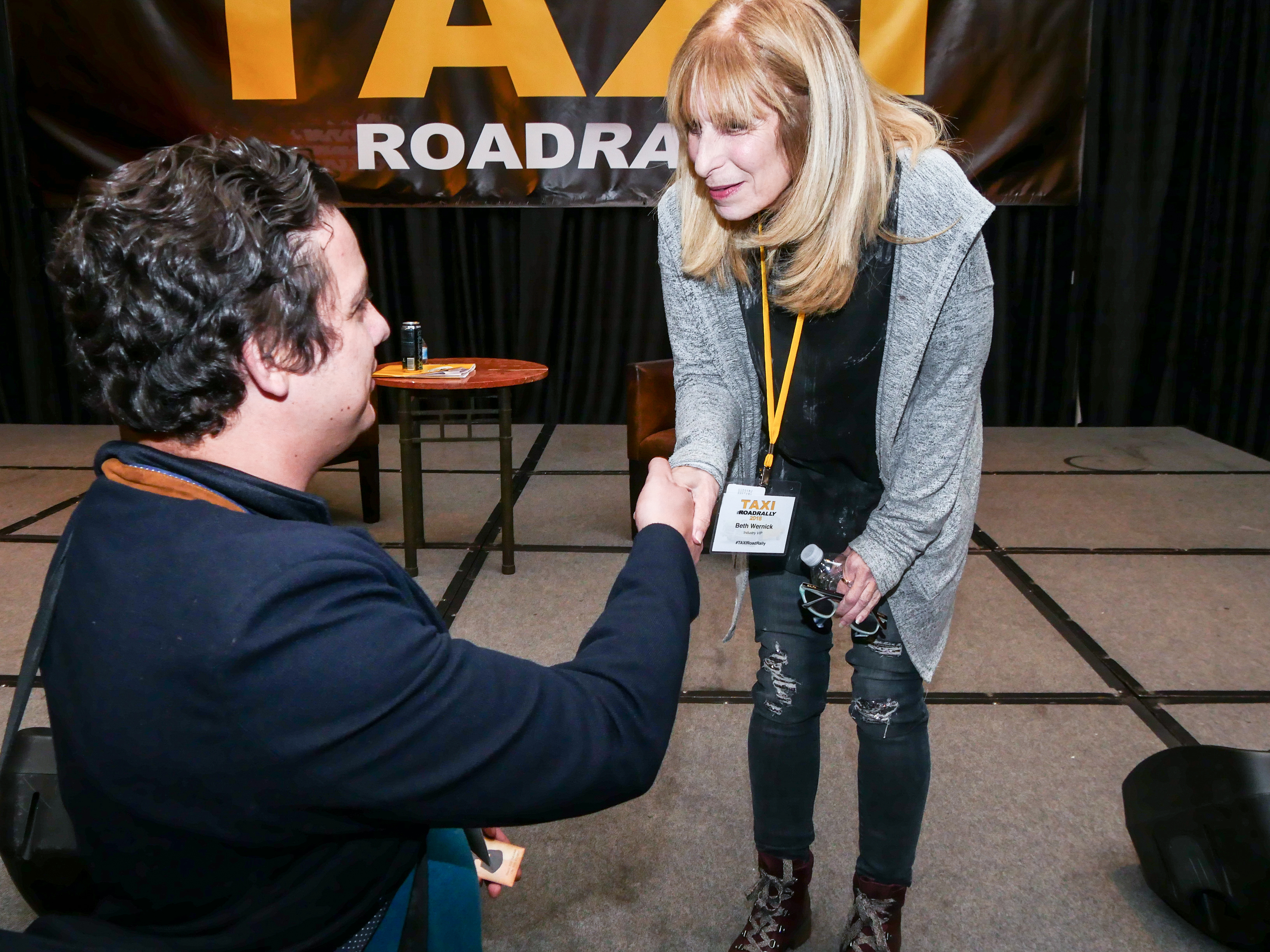 We love it when our panelists hang out and talk to Road Rally attendees after their panels. Beth Wernick stayed until every question was answered!