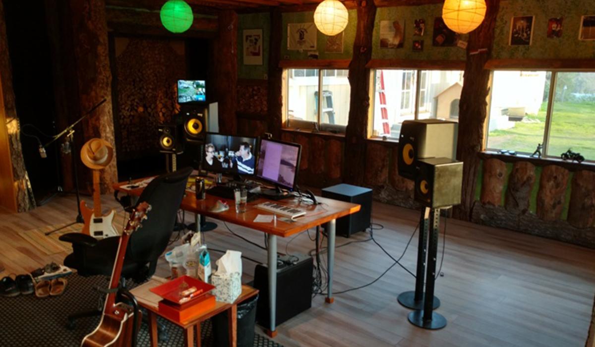 An overview of McEntee's studio.