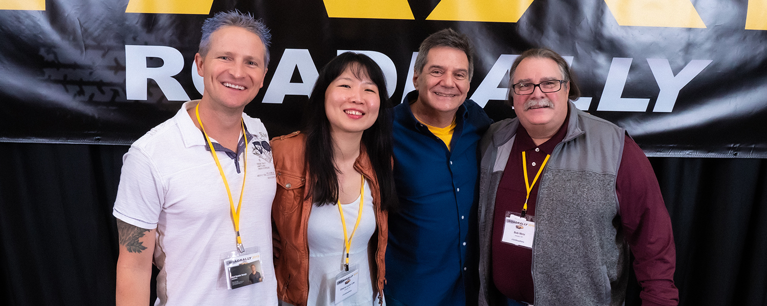 Matt Vander Boegh, Sherry-Lynn Lee, Michael Laskow, and Bob Mete are all smiles after they wrapped up their panel!